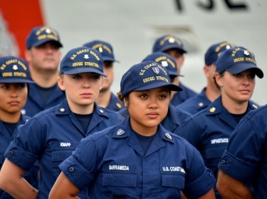 The crew of the Coast Guard Cutter Stratton stands by to offload 34 metric tons of cocaine in San Diego on Monday, Aug. 10, 2015, photo by Petty Officer 2nd Class Patrick Kelley/Defense Visual Information Distribution Service