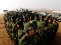 TSoldiers with the People's Liberation Army at Shenyang training base in China, March 24, 2007
