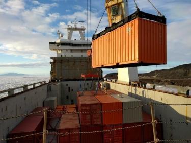 ODF 2017, NSF, USAP, McMurdo Station, Antarctica, Cargo Operations
