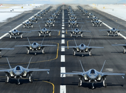 The active duty 388th and Reserve 419th Fighter Wings conducted an F-35 Lightning II Combat Power Exercise at Hill Air Force Base, Utah, Jan. 6, 2020
