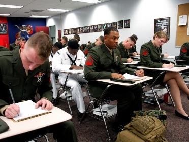 Marines in Cherry Point Corporals Leadership Course