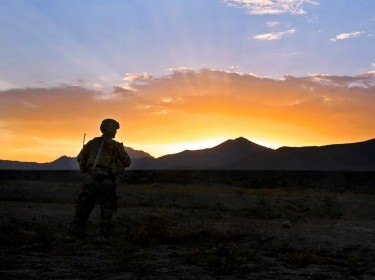 A U.S. Army soldier on a route clearance mission in Wardak province, Afghanistan, August 13, 2013, photo by Spc. Chenee Brooks/U.S. Army