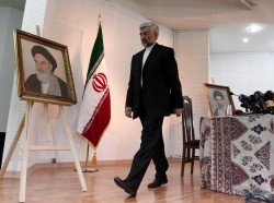 Iran's chief negotiator Saeed Jalili at a May 2013 news conference