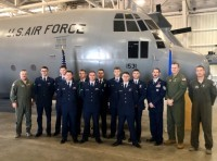 Nine Airmen graduate from the Basic Flight Engineer Course at the 344th Training Squadron, Career Enlisted Aviator Center of Excellence, as the first-ever class comprised completely of non-prior service students at Joint Base San Antonio-Lackland, Texas, 13 Dec., photo by 1st Lt. Kayshel Trudell/U.S. Air Force