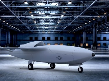 A Skyborg conceptual design for a low-cost attritable unmanned combat aerial vehicle (UCAV), image by Air Force Research Laboratory