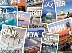 Airport trading cards, photos by Airports Council International-North America; design by Katherine Wu/RAND Corporation