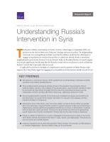 Understanding Russia's Intervention in Syria