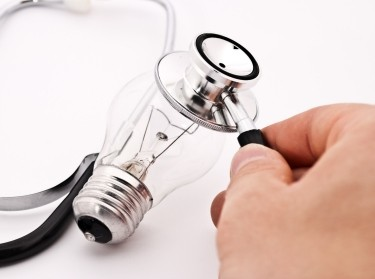 lightbulb and stethoscope