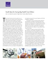 Cover: Small Ideas for Saving Big Health Care Dollars