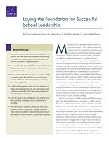Cover: Laying the Foundation for Successful School Leadership