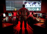 Cyber warfare specialists engage in weekend training at Warfield Air National Guard Base in Middle River, Maryland, June 3, 2017