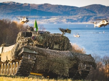 A Norwegian Army Leopard 2A4 main battle tank during the NATO exercise Trident Juncture in Norway, 2018, photo by Ole-Sverre Haugli/Norwegian Armed Forces