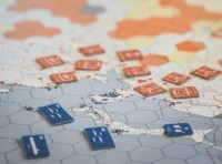 Wargame pieces on a board, photo by Dori Walker/RAND Corporation