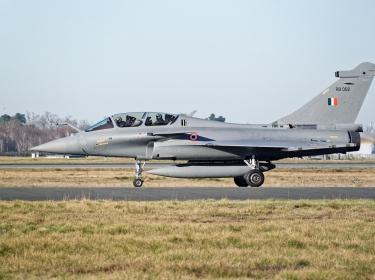 An Indian Air Force Dassault Rafale fighter