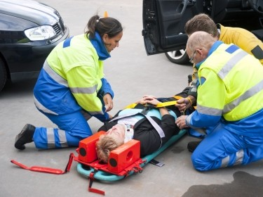 emergency medical services at the scene of an auto accident