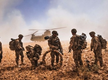 The Flying Dragons flew in support of a joint air assault in which Soldiers conducted a search for illegal weapons on various compounds throughout Nawa Valley, Kandahar Province, Afghanistan, May 25, 2014