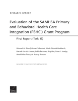 Cover: Evaluation of the SAMHSA Primary and Behavioral Health Care Integration (PBHCI) Grant Program
