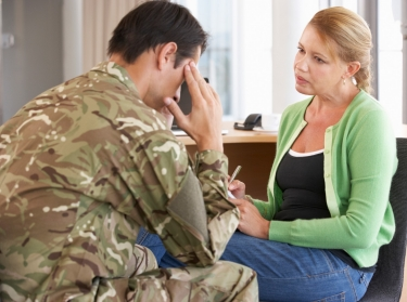 A soldier with a counselor