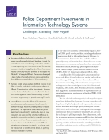 Cover: Police Department Investments in Information Technology Systems