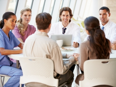 group meeting of medical professionals