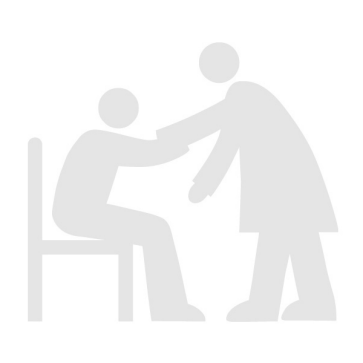Person and his or her caregiver helping out of chair