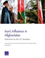 النفوذ الإيراني في أفغانستان: الآثار المُترتبة على انسحاب الولايات المتحدة