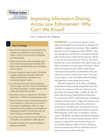 Cover: Improving Information-Sharing Across Law Enforcement: Why Can't We Know?