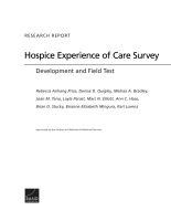 Cover: Hospice Experience of Care Survey
