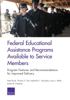 Cover: Federal Educational Assistance Programs Available to Service Members