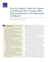 Cover: How Do Federal Civilian Pay Freezes and Retirement Plan Changes Affect Employee Retention in the Department of Defense?