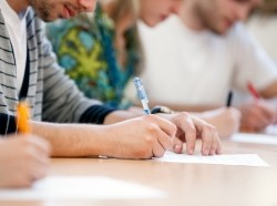 Students writing
