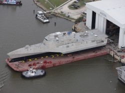 The littoral combat ship Pre-Commissioning Unit (PCU) Coronado (LCS 4)