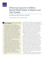 Cover: Enhancing Capacity to Address Mental Health Needs of Veterans and Their Families