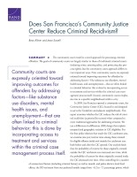 Cover: Does San Francisco's Community Justice Center Reduce Criminal Recidivism?