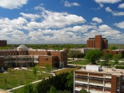 View of a college campus