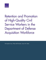 Cover: Retention and Promotion of High-Quality Civil Service Workers in the Department of Defense Acquisition Workforce