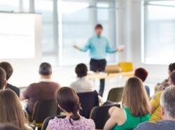 Speaker at a workshop
