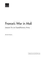 Cover: France's War in Mali