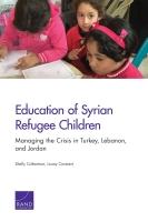 تعليم أطفال اللاجئين السوريين: إدارة الأزمة في تركيا ولبنان والأردن