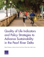 Cover: Quality of Life Indicators and Policy Strategies to Advance Sustainability in the Pearl River Delta