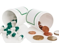 pills and coins