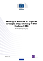 Cover: Foresight Services to support strategic programming within Horizon 2020