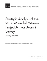 Cover: Strategic Analysis of the 2014 Wounded Warrior Project Annual Alumni Survey
