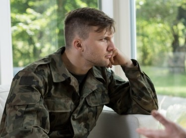 A soldier in therapy