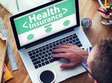 A consumer signs up for health insurance online