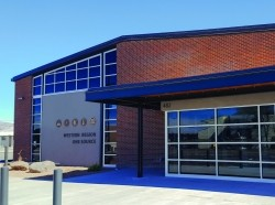The former Colorado National Guard armory in Grand Junction, Colorado, is the new home of the Western Region One Source. The facility will help connect Western Slope service members, veterans, and their families with service providers, photo by Joanne Iglesias/Colorado National Guard
