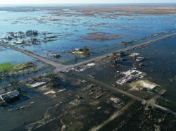 Flooding on the Louisiana Gulf Coast after Hurricane Delta. Photo by EC4 / Getty Images