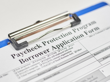 Paycheck Protection Program borrower application form, photo by golibtolibov/Getty Images