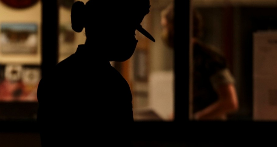 A U.S. Marine Corps drill instructor prepares to initiate 'Lights,' the start of her platoon's morning routine, photo by Sgt. Dana Beesley/U.S. Marine Corps