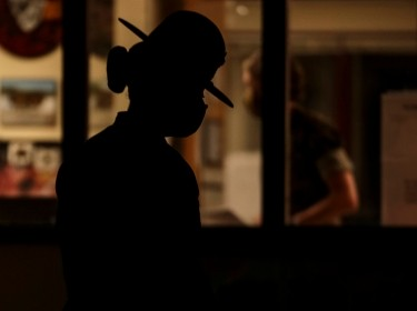 """A U.S. Marine Corps drill instructor prepares to initiate """"Lights,"""" the start of her platoon's morning routine, photo by Sgt. Dana Beesley/U.S. Marine Corps"""